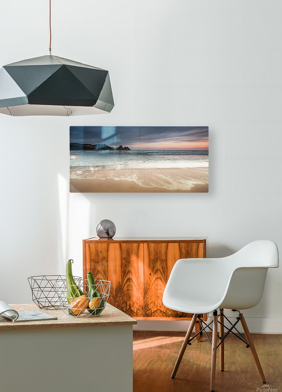Three Cliffs Bay Swansea  HD Metal print with Floating Frame on Back