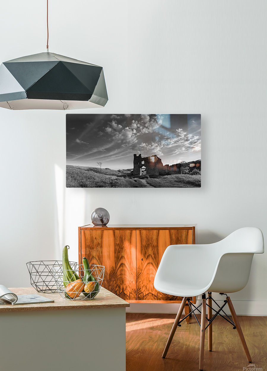 Pennard castle Gower  HD Metal print with Floating Frame on Back
