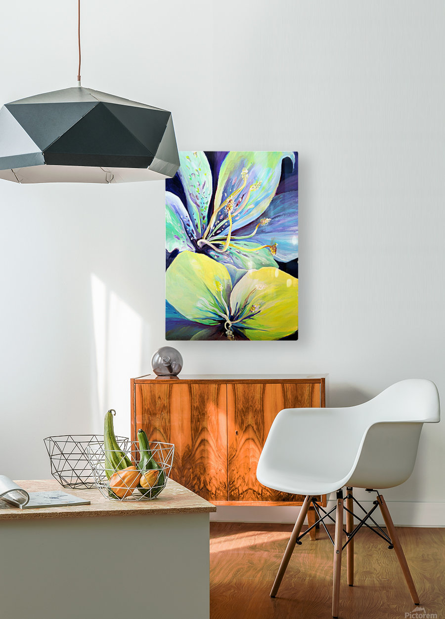 Blooming Flowers   HD Metal print with Floating Frame on Back