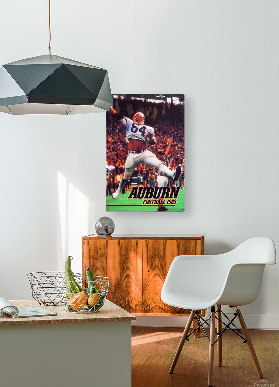 auburn football art 1983  HD Metal print with Floating Frame on Back