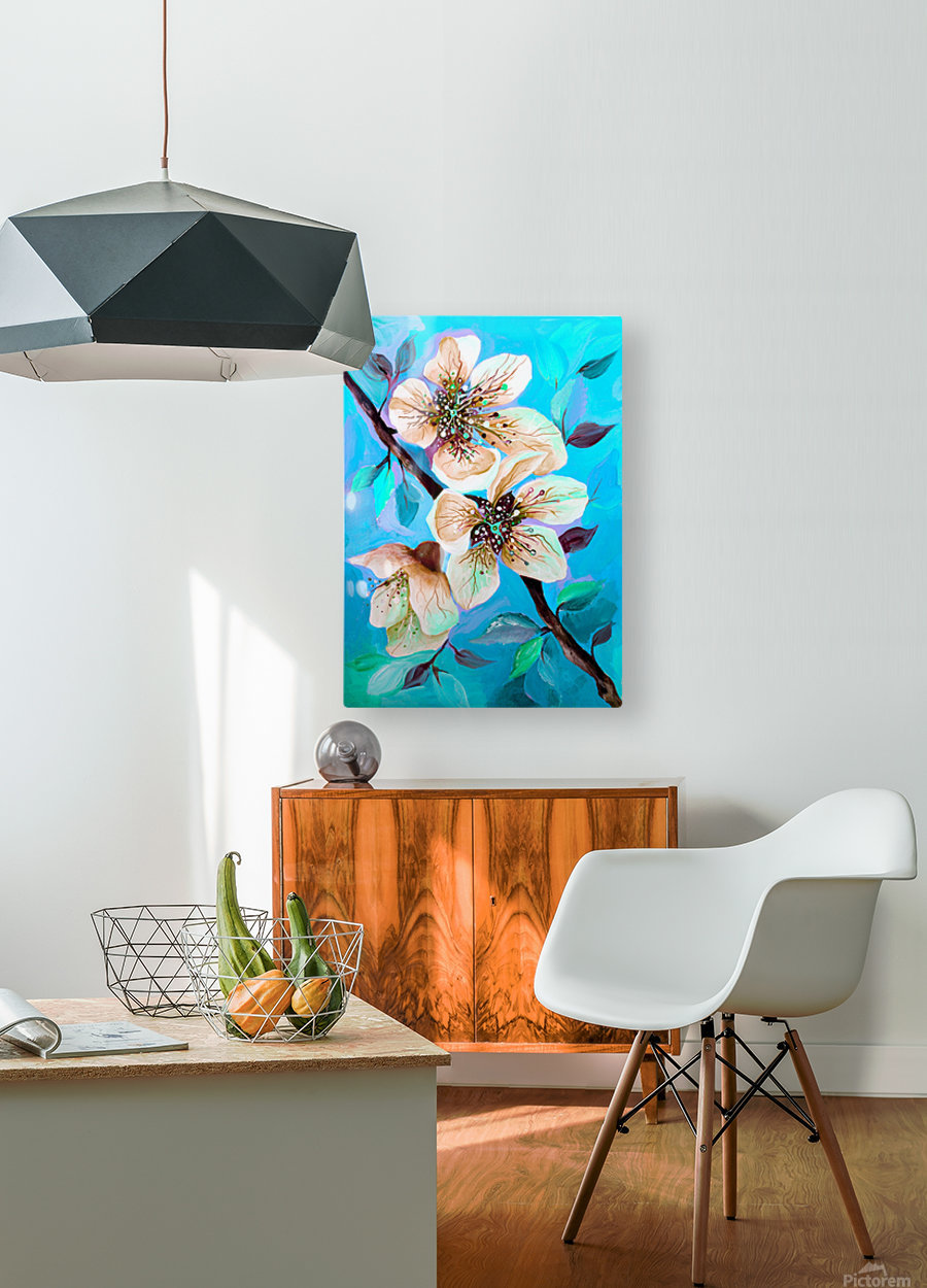 Japanese Sakura Cherry Blossom   HD Metal print with Floating Frame on Back