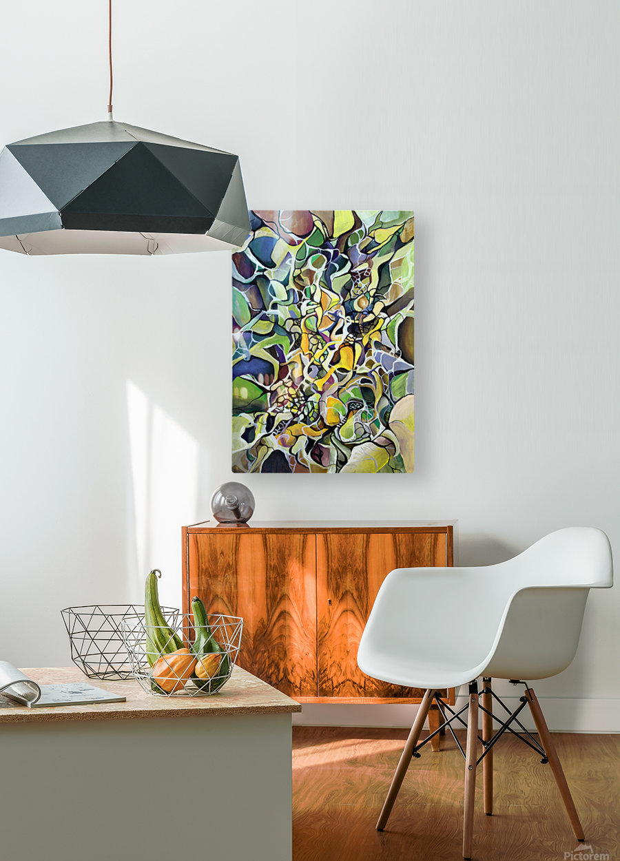Chaos Theory in Interlacing Style   HD Metal print with Floating Frame on Back