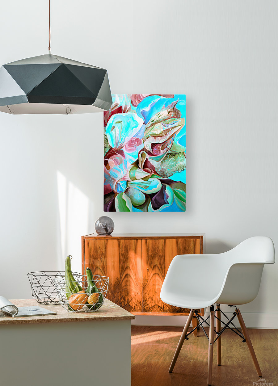 Realm of Tropical Exotic Nature Pattern  HD Metal print with Floating Frame on Back