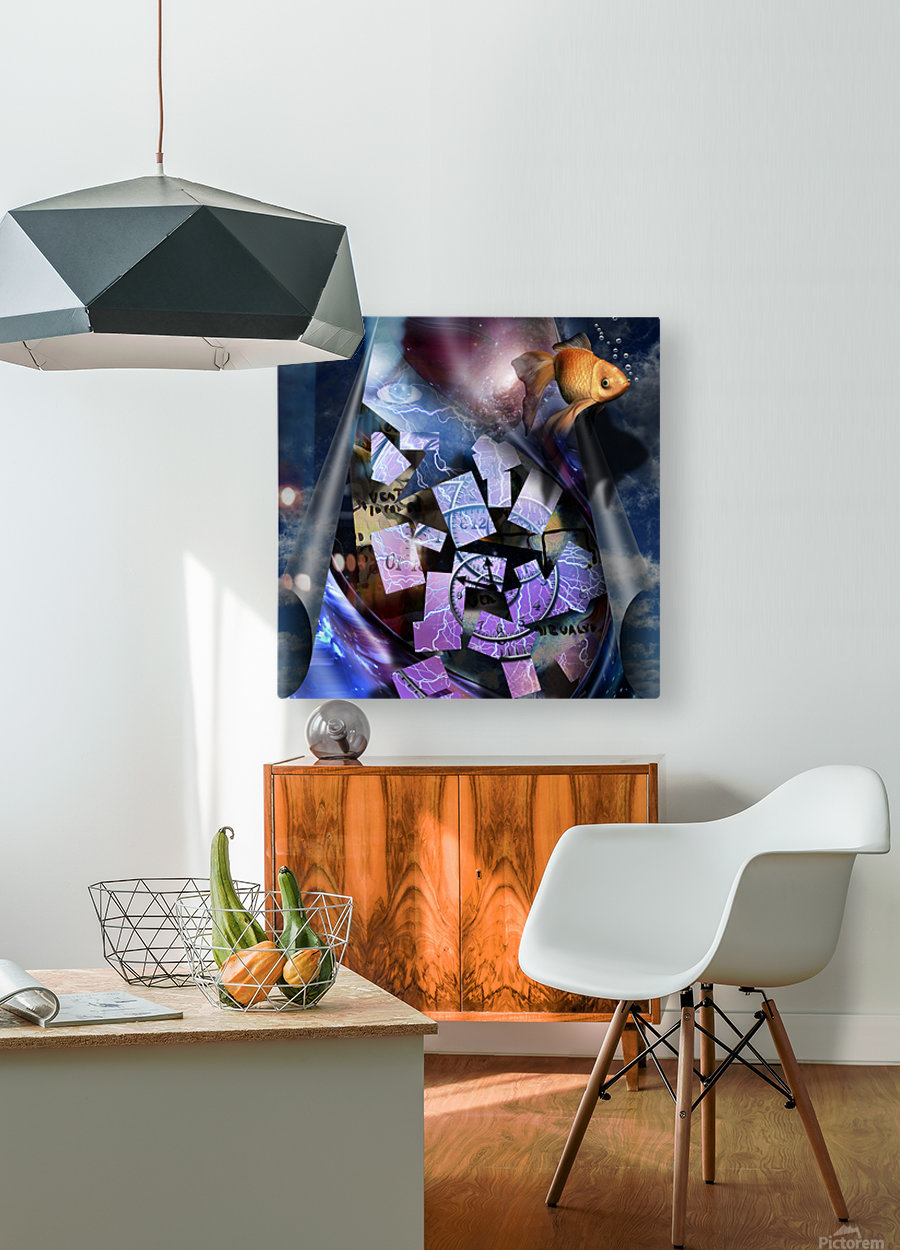In a Dream  HD Metal print with Floating Frame on Back
