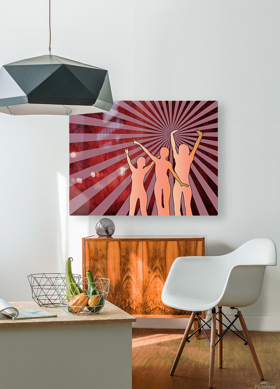 Dancing Girls  HD Metal print with Floating Frame on Back
