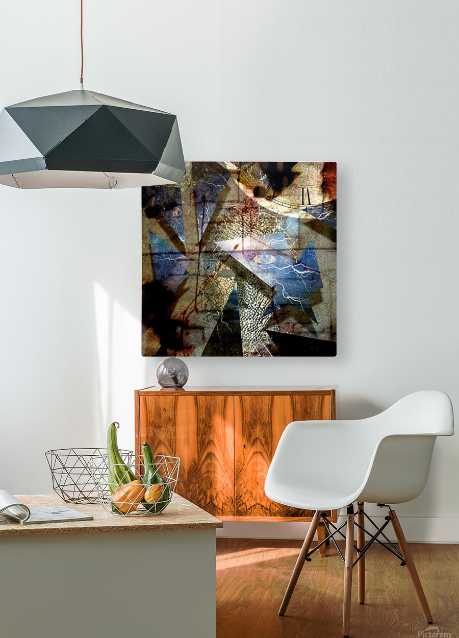 The Shards of Reality  HD Metal print with Floating Frame on Back