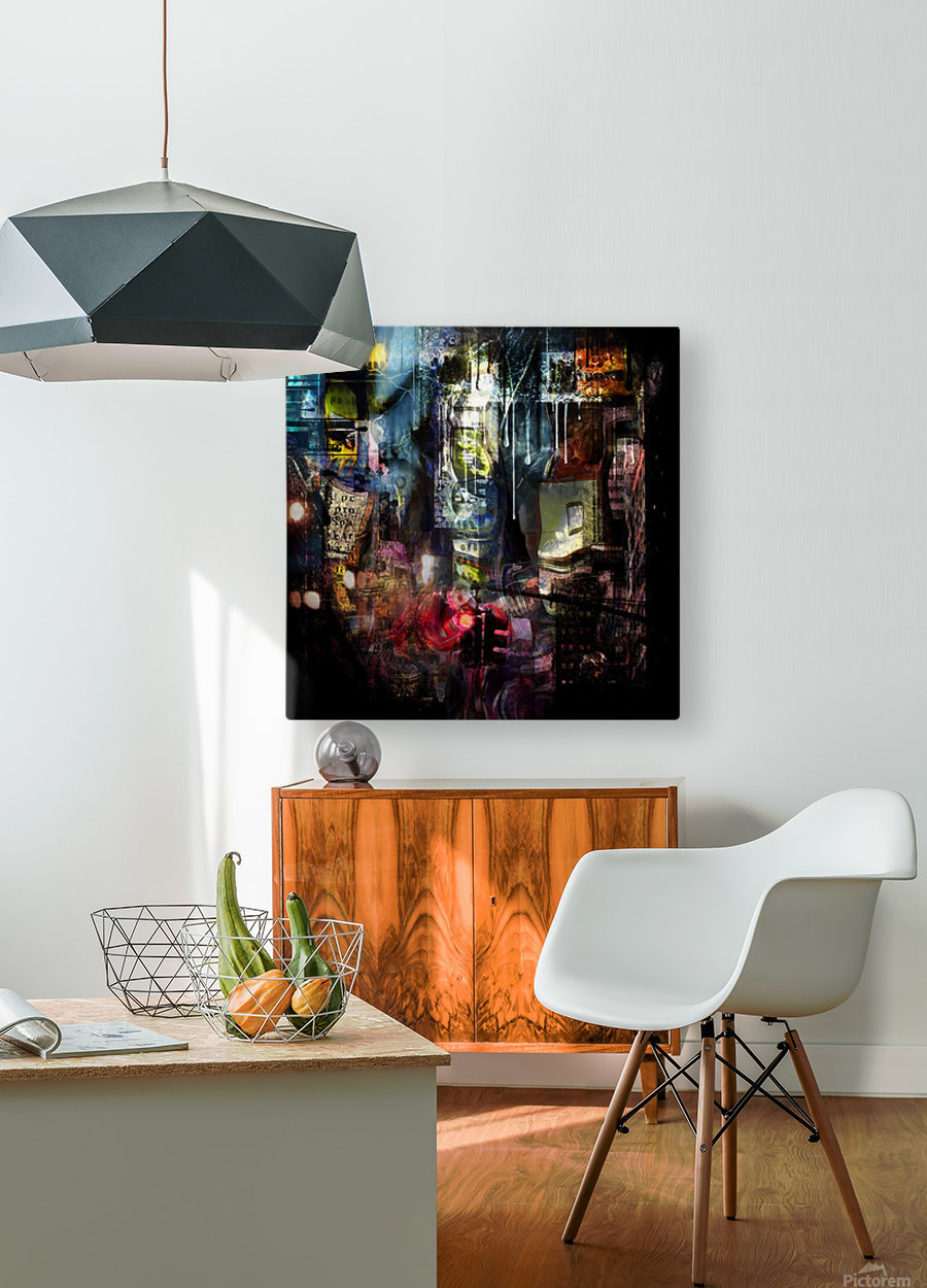 In the Heart of the City  HD Metal print with Floating Frame on Back