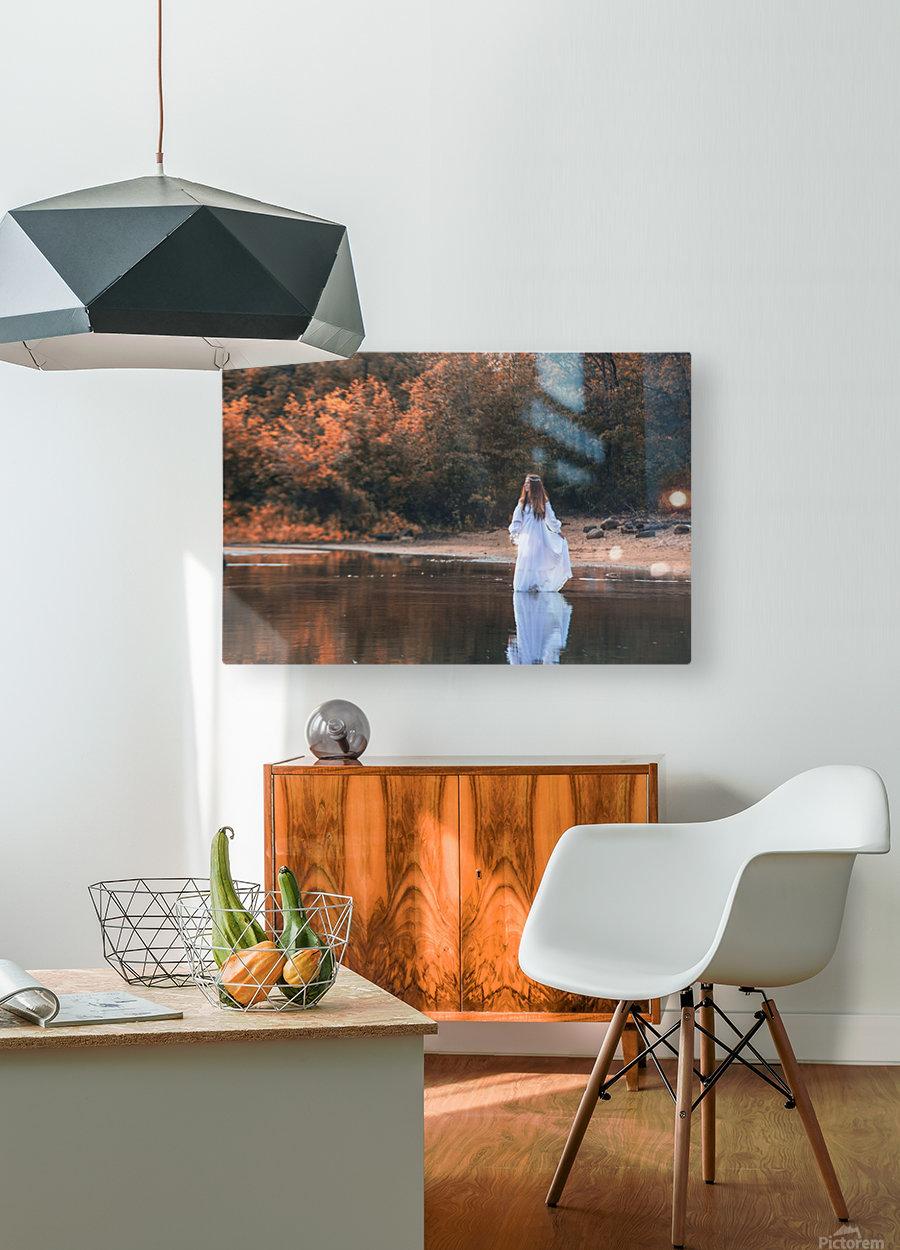 La dame du lac 2  HD Metal print with Floating Frame on Back