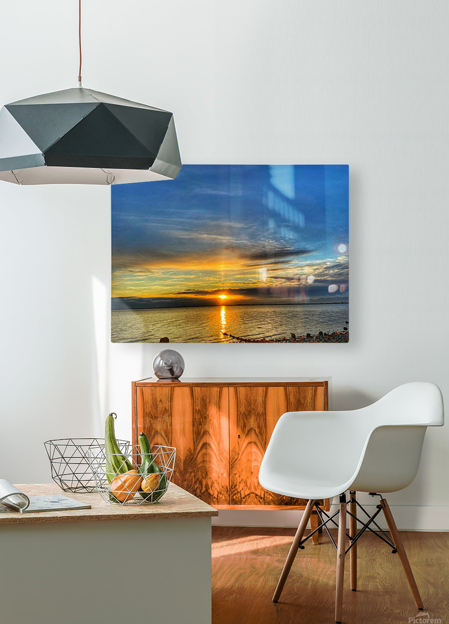 Ocean Sunsets  HD Metal print with Floating Frame on Back