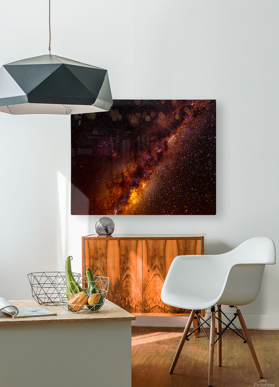 Galactic Core Explosion  HD Metal print with Floating Frame on Back