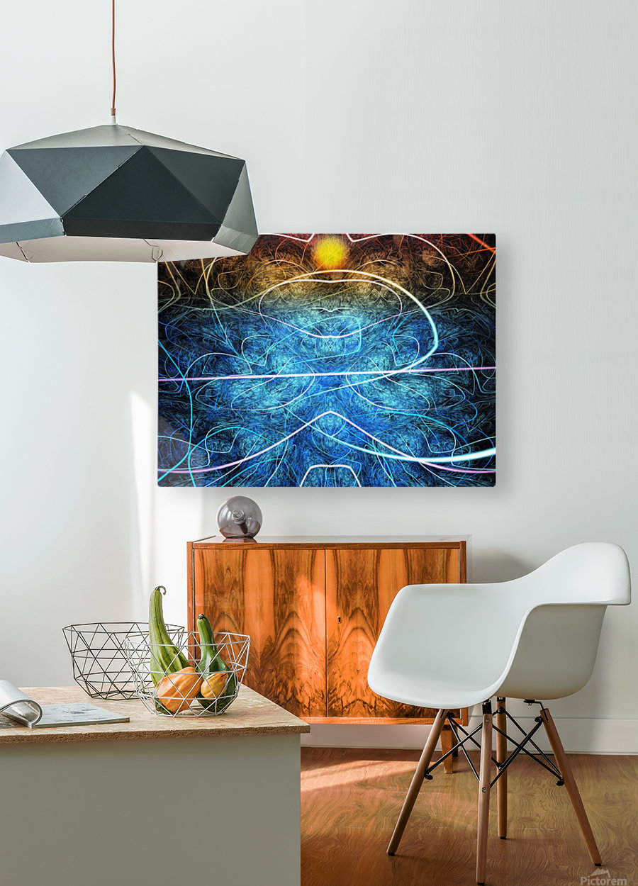 Azure shallow sunset  HD Metal print with Floating Frame on Back