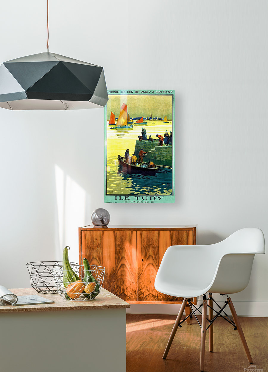 Ile-Tudy  HD Metal print with Floating Frame on Back