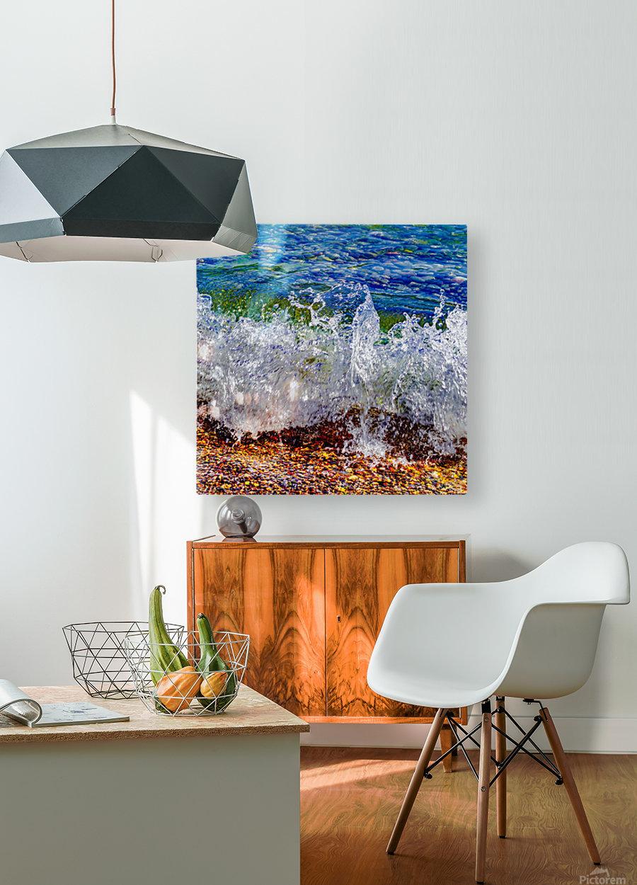 Millennium Splash  HD Metal print with Floating Frame on Back