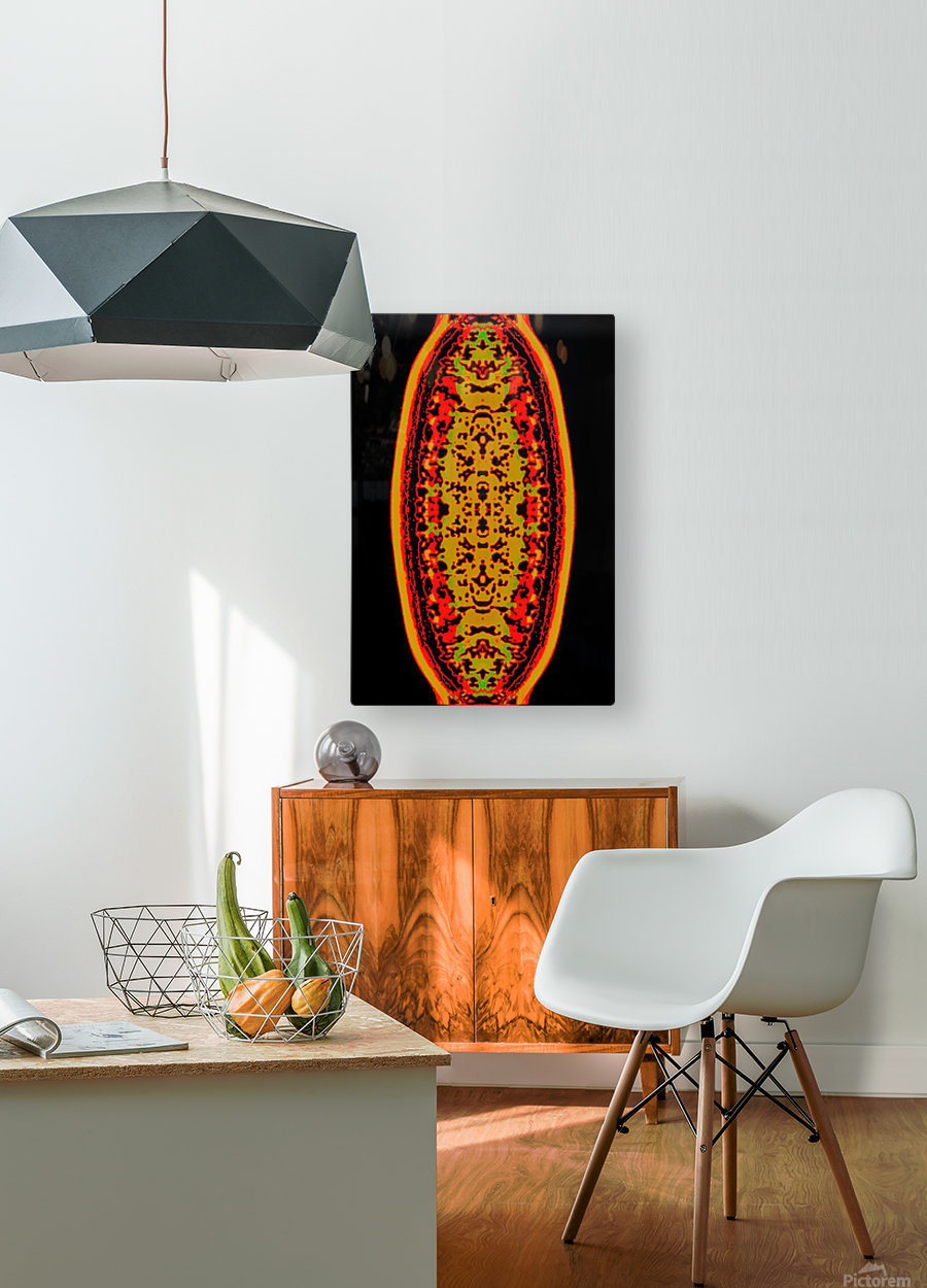 Shiva linga  HD Metal print with Floating Frame on Back