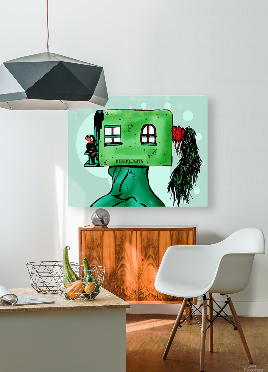 House Man   HD Metal print with Floating Frame on Back