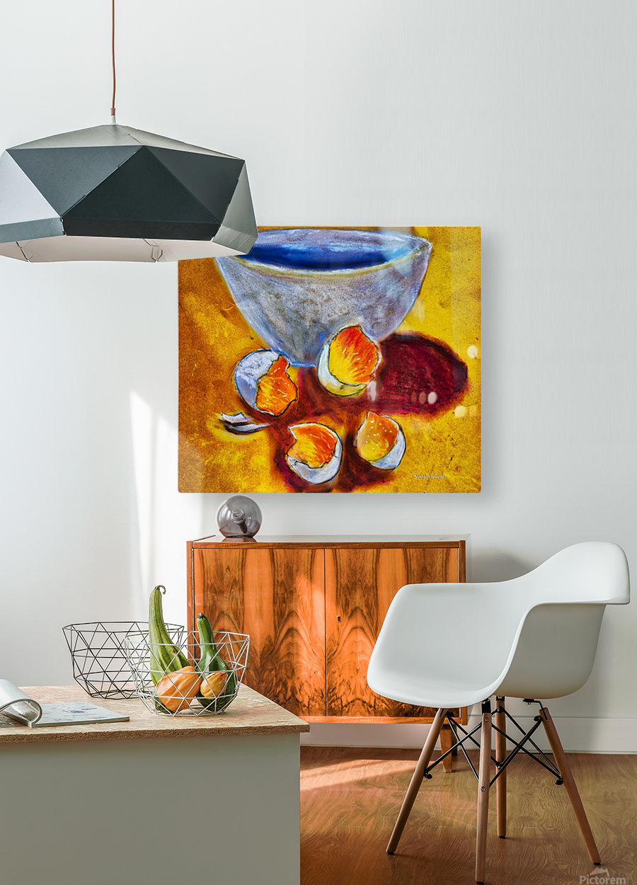 Eggs and a bowl  HD Metal print with Floating Frame on Back