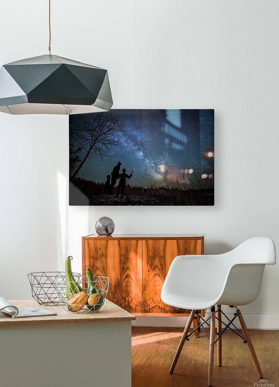 River of Heaven  Impression métal HD avec cadre flottant sur le dos
