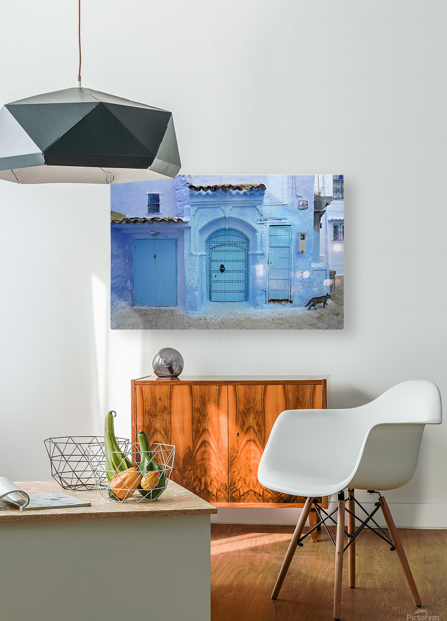 Chefchaouen Medina Morocco  HD Metal print with Floating Frame on Back