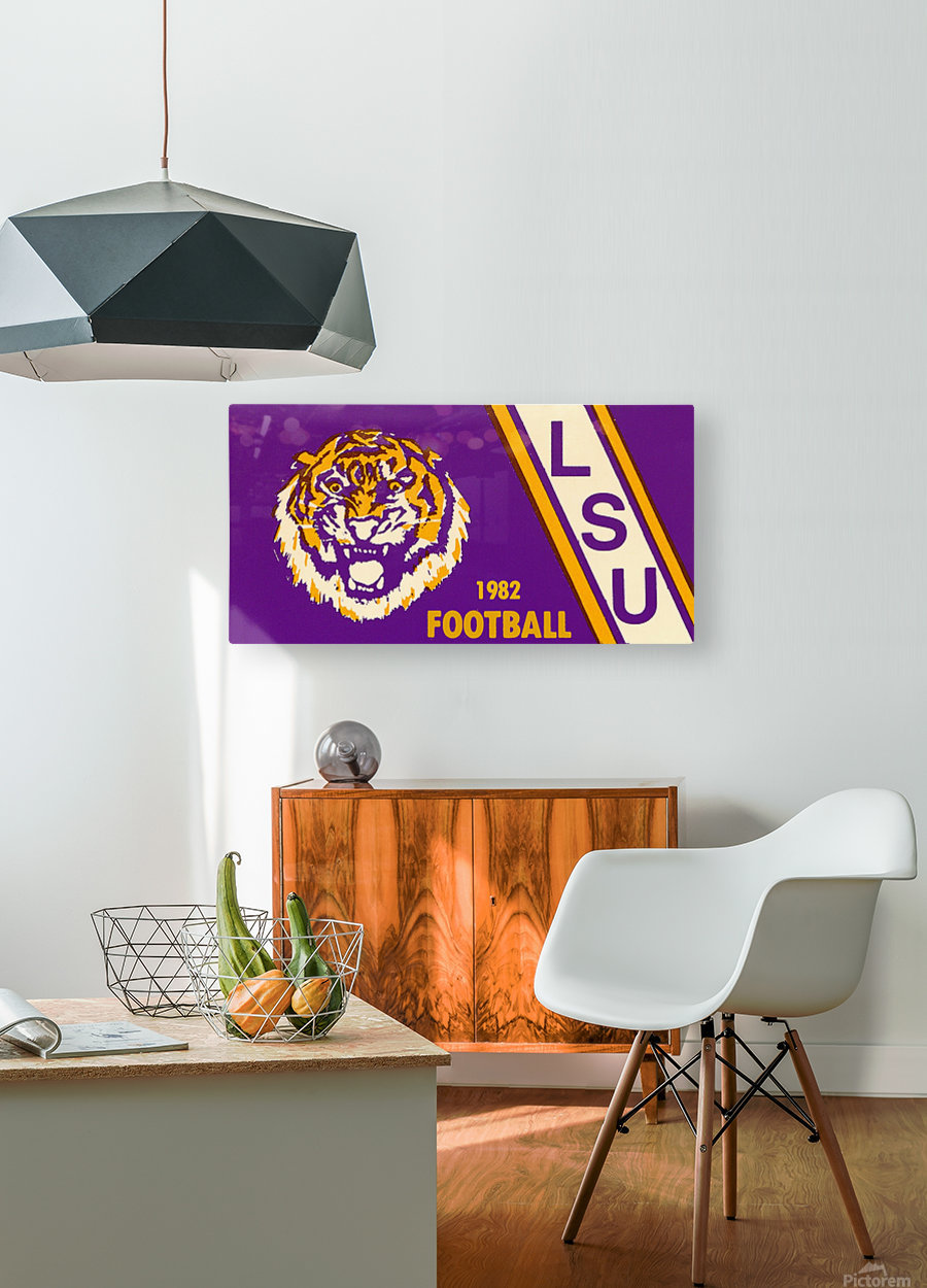 1982 LSU Football  HD Metal print with Floating Frame on Back