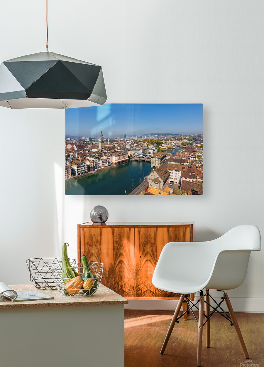 ZURICH 07  HD Metal print with Floating Frame on Back