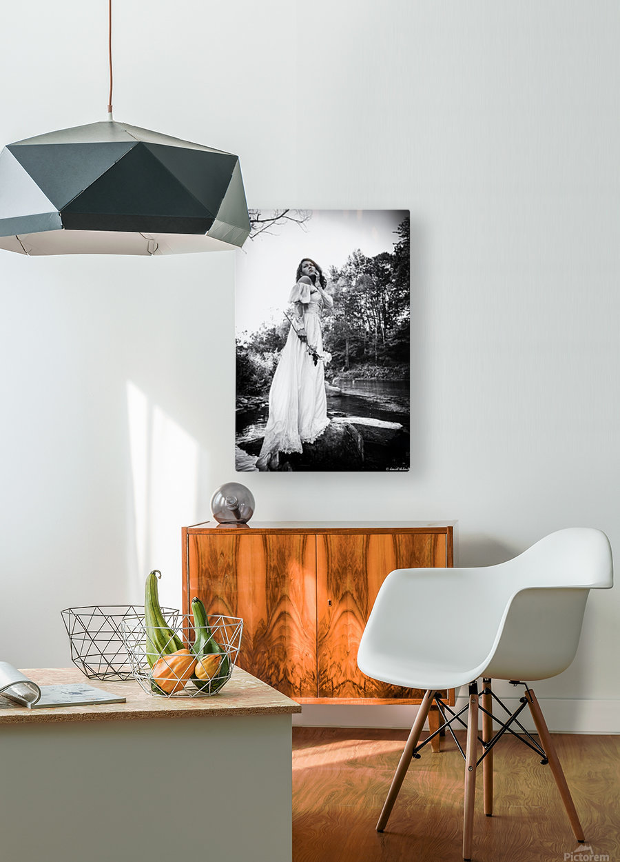 Linquietude dOphelia  HD Metal print with Floating Frame on Back