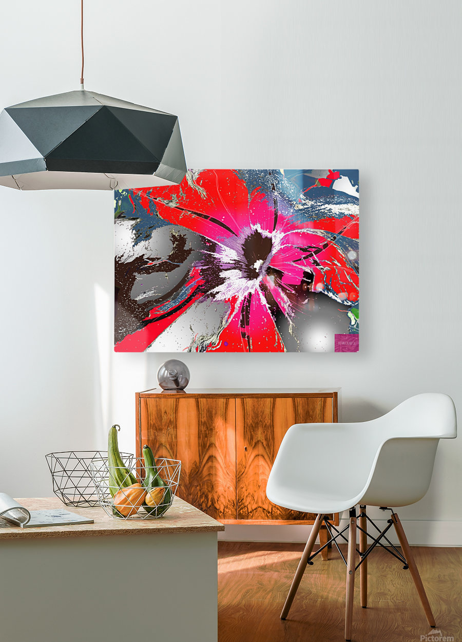 Pandemic Petunia  HD Metal print with Floating Frame on Back