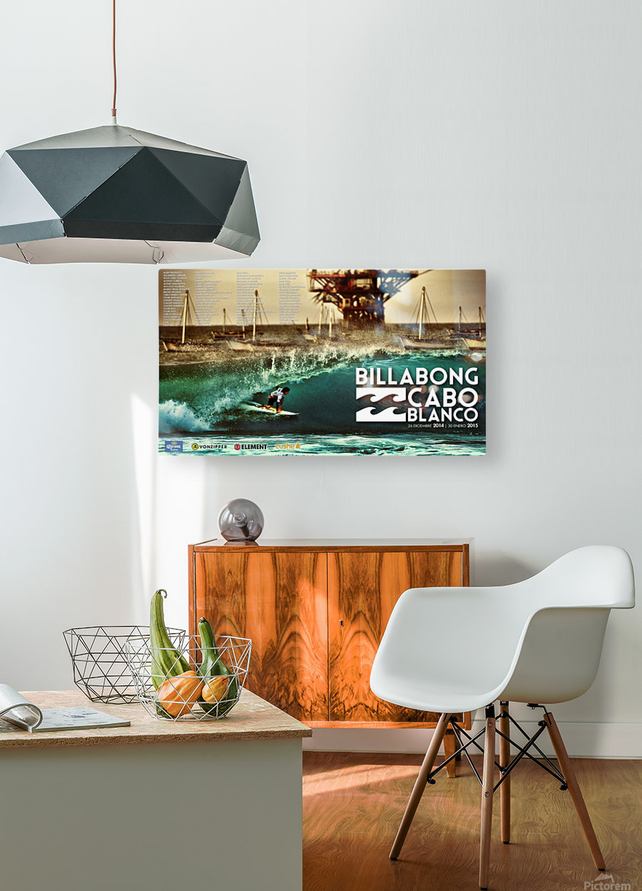 2015 BILLABONG Cabo Blanco Print - Surfing Poster  HD Metal print with Floating Frame on Back