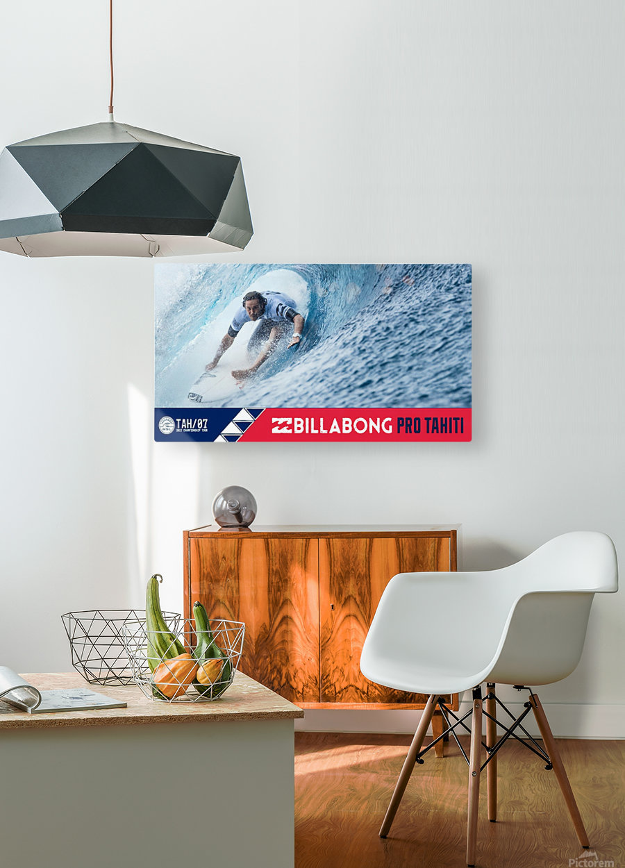 2017 BILLABONG Pro Tahiti Print - Surfing Poster  HD Metal print with Floating Frame on Back