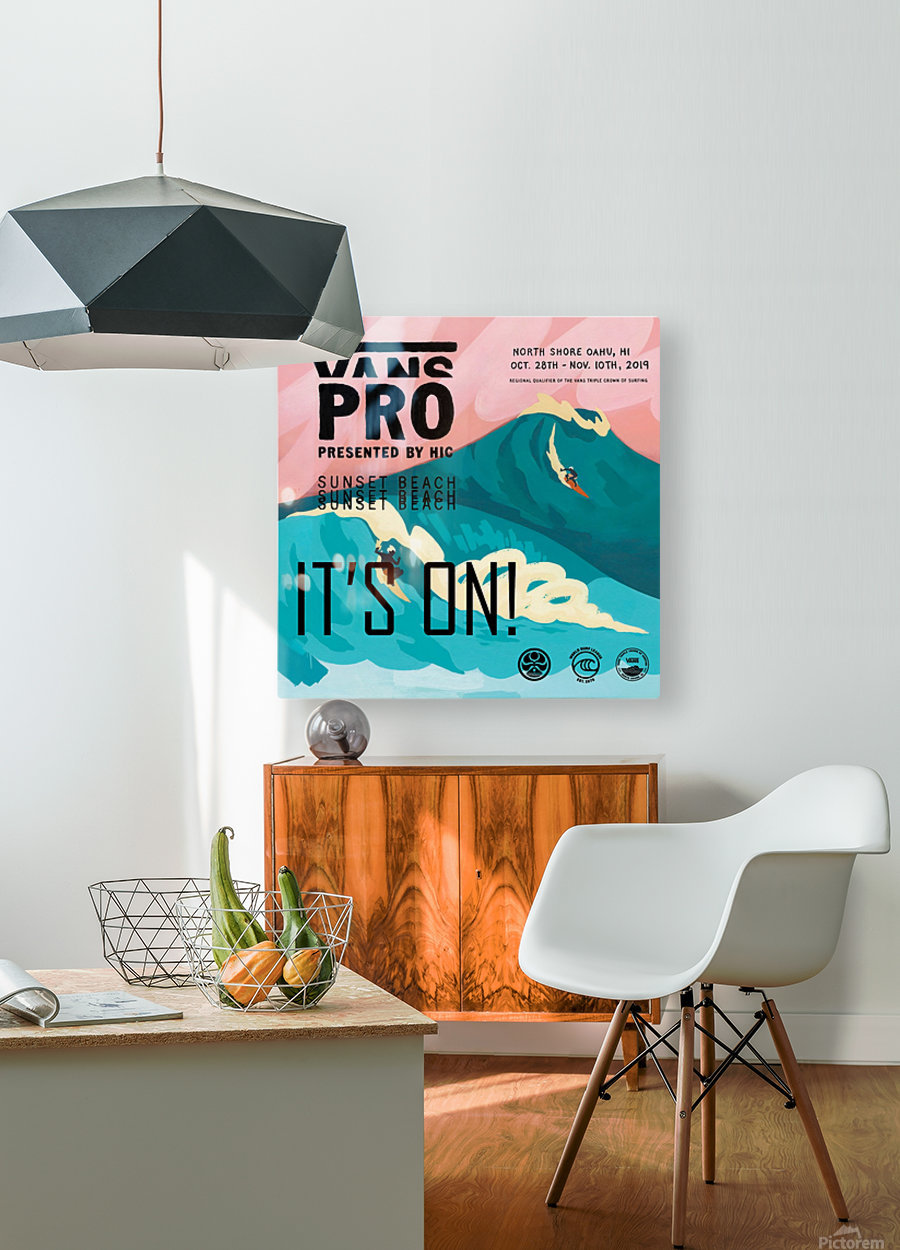 2019 VANS PRO Print - Surfing Poster  HD Metal print with Floating Frame on Back