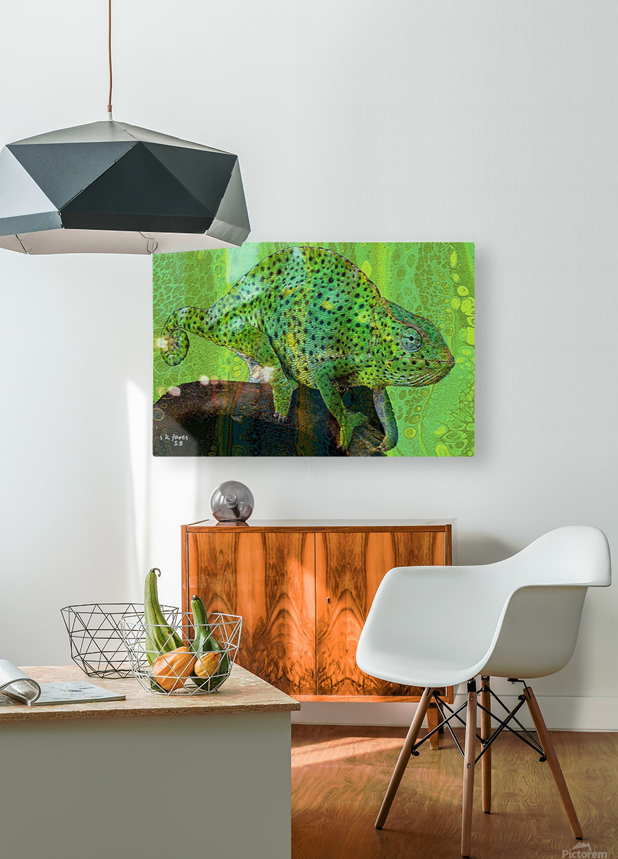 abstracart25  HD Metal print with Floating Frame on Back