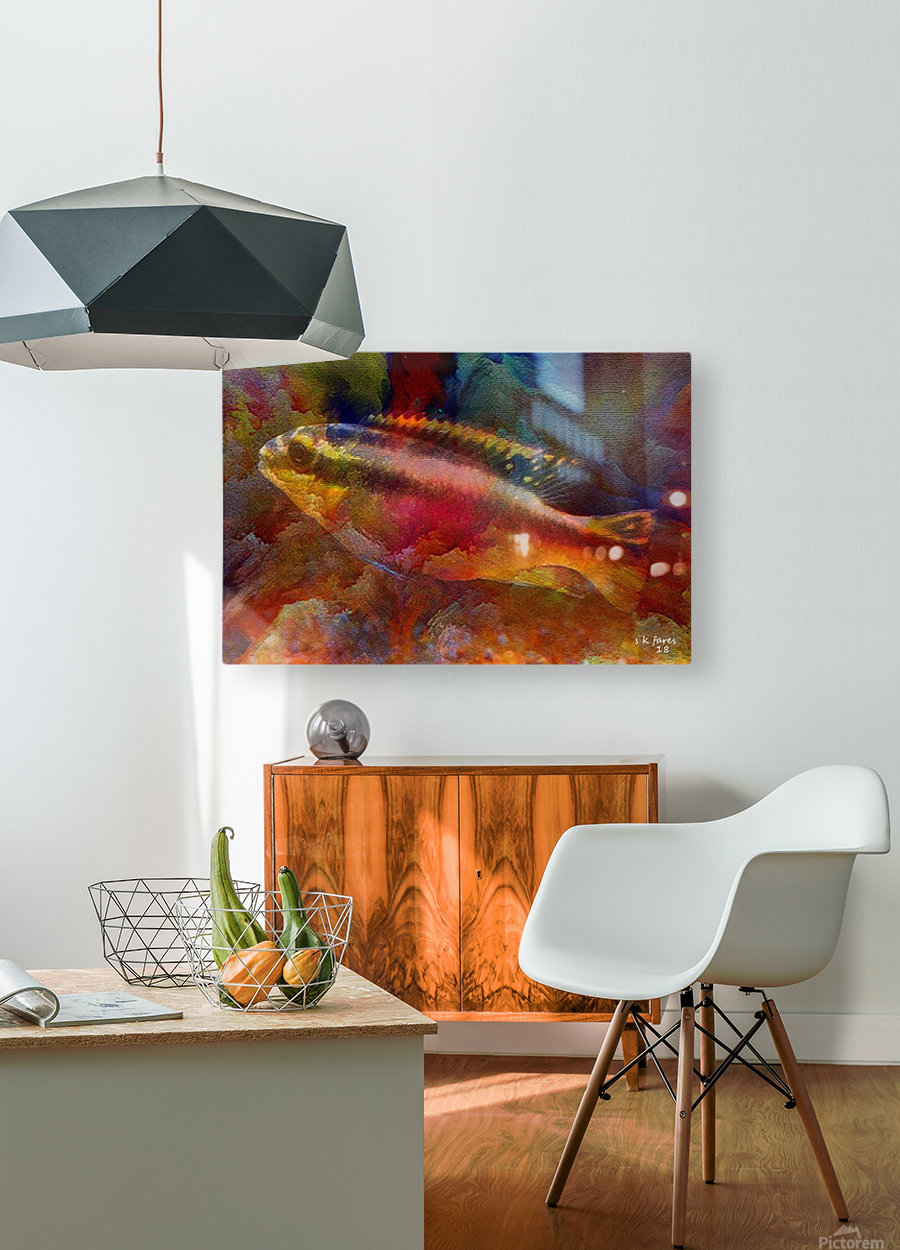 abstracart26  HD Metal print with Floating Frame on Back