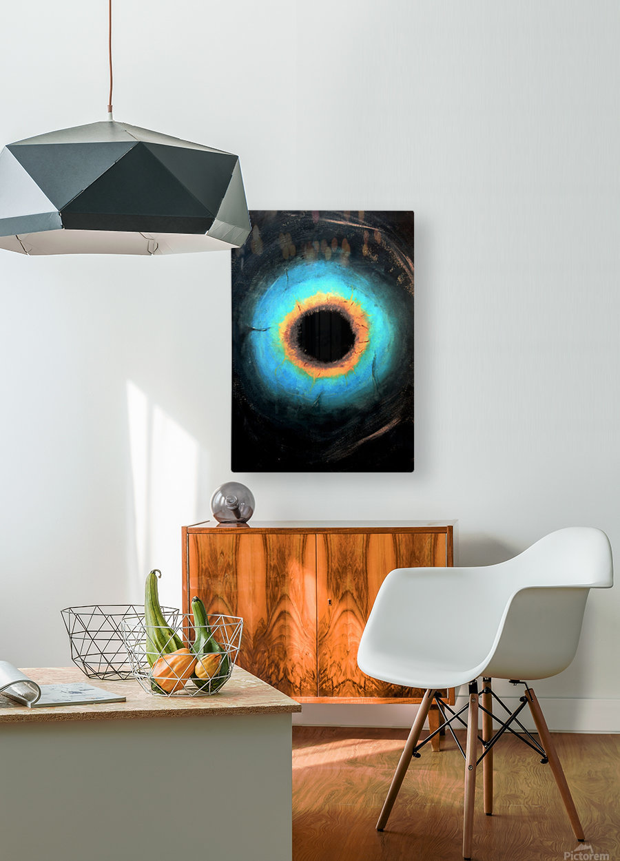 Glimpse of Black Hole No.2  HD Metal print with Floating Frame on Back