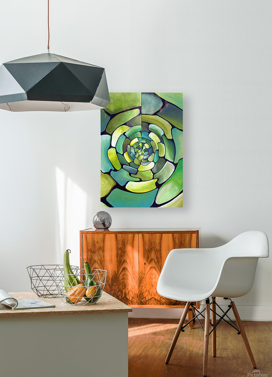 Artdeco Centered Pattern   HD Metal print with Floating Frame on Back