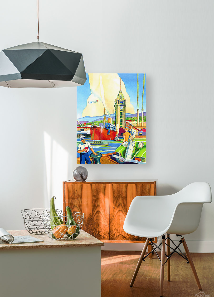 On Hawaii Port  HD Metal print with Floating Frame on Back