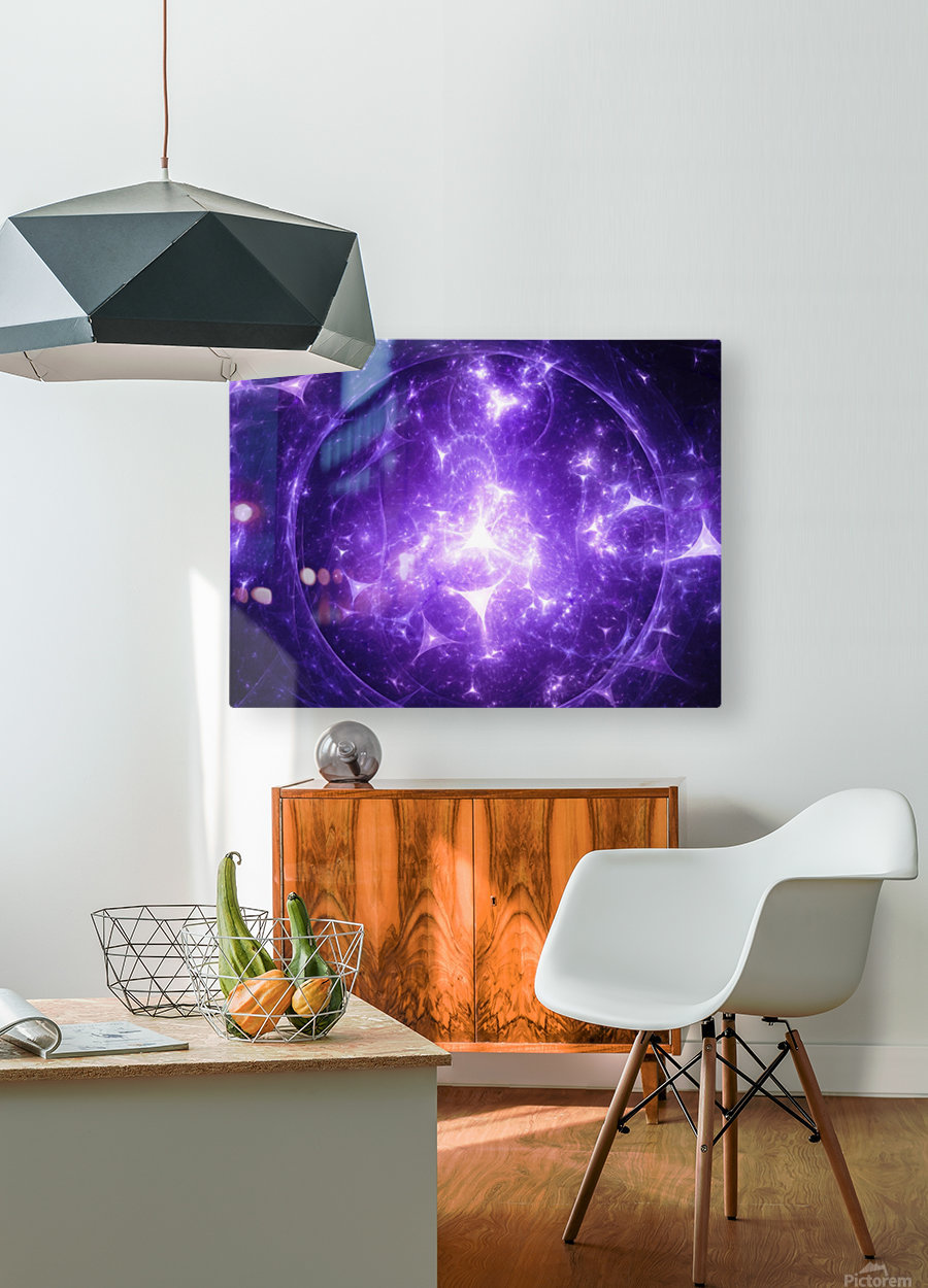 Beyond time  HD Metal print with Floating Frame on Back