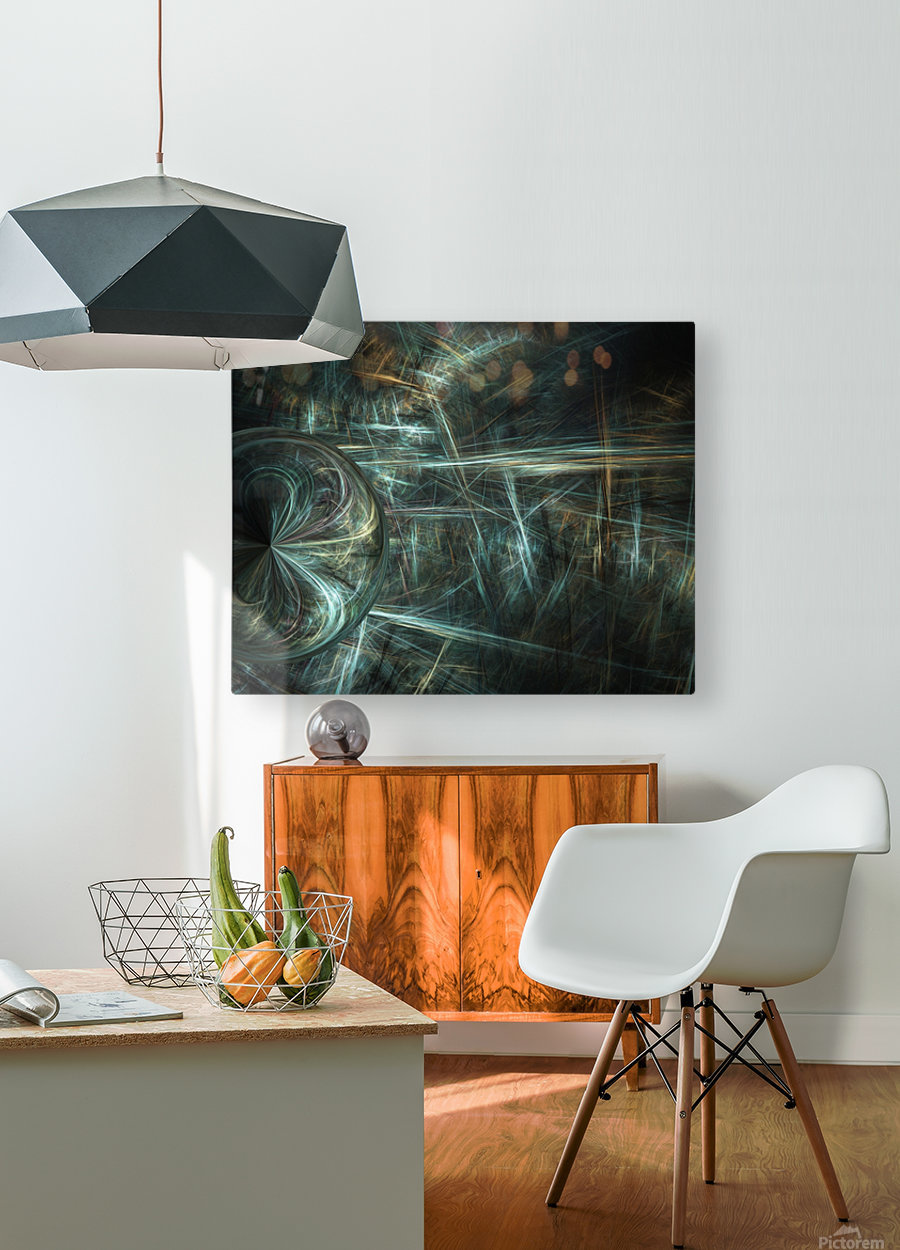 Another world  HD Metal print with Floating Frame on Back