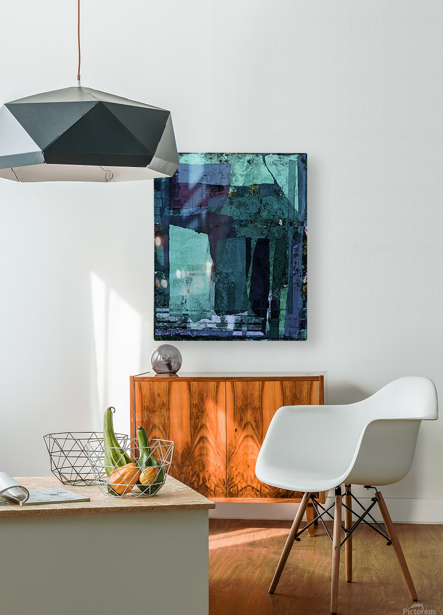 Torn  HD Metal print with Floating Frame on Back
