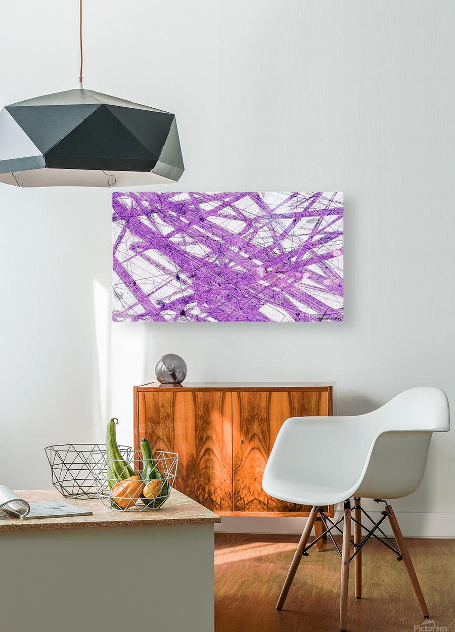 Purple Rain  HD Metal print with Floating Frame on Back