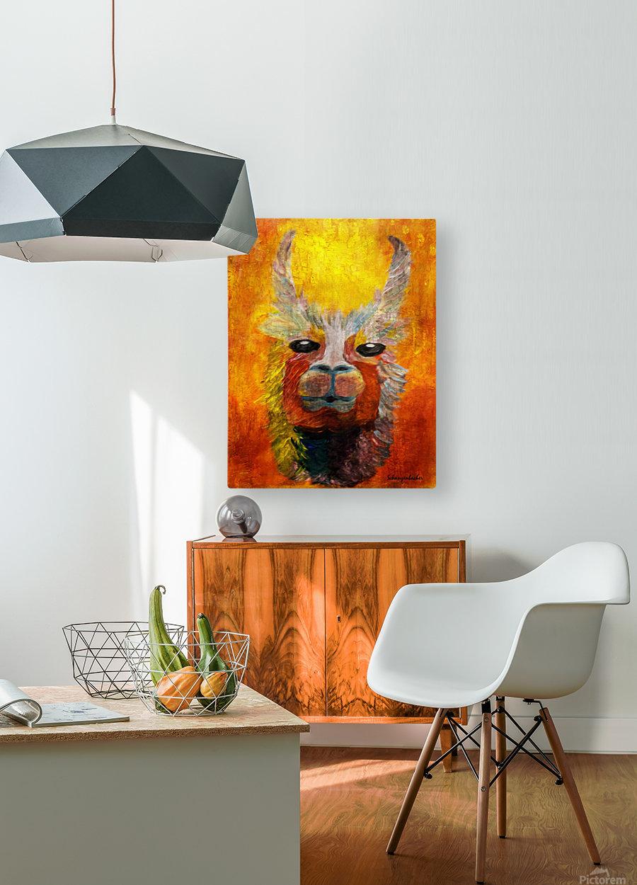 Alpaca  HD Metal print with Floating Frame on Back