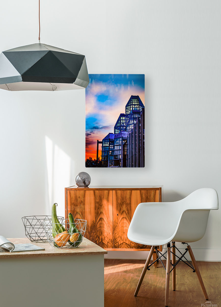 Sunset at the National Gallery of Canada  HD Metal print with Floating Frame on Back