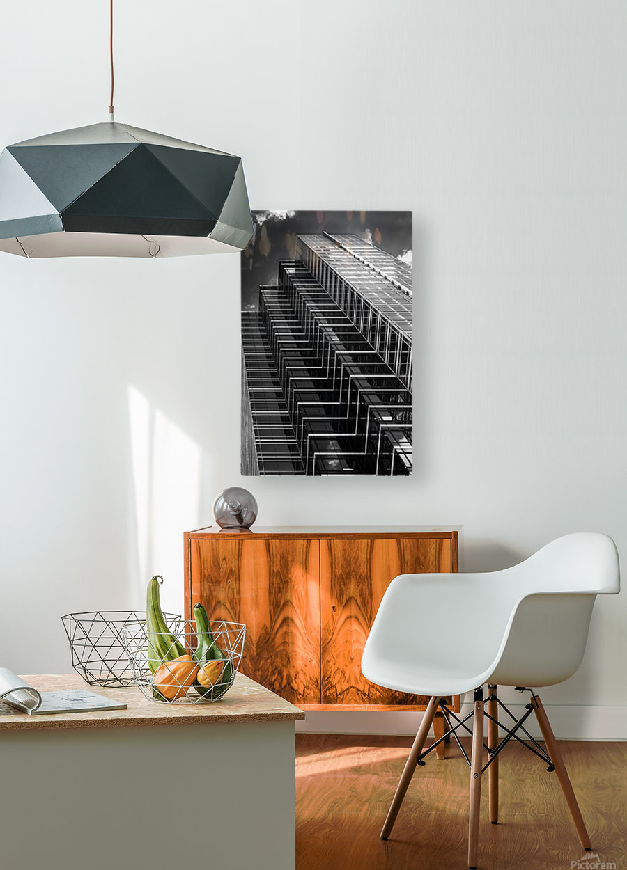 Step Up To The Sky  HD Metal print with Floating Frame on Back
