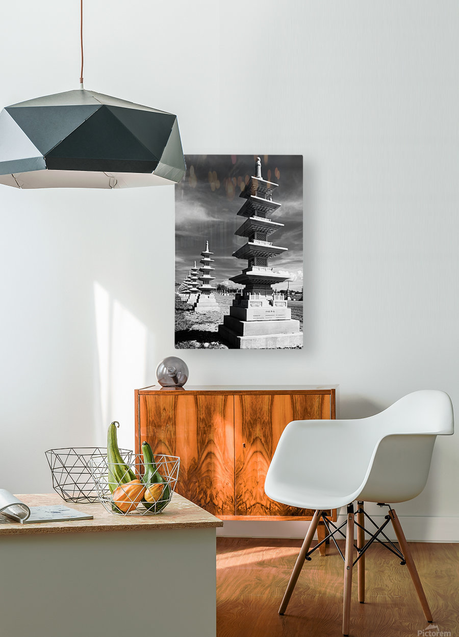 Vanishing Towers of Wutai Shan  HD Metal print with Floating Frame on Back