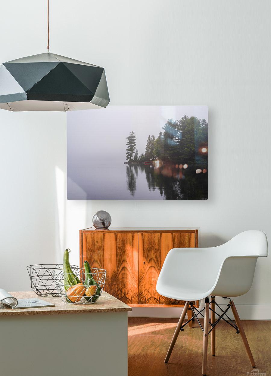 Koshlong Lake Fog  HD Metal print with Floating Frame on Back