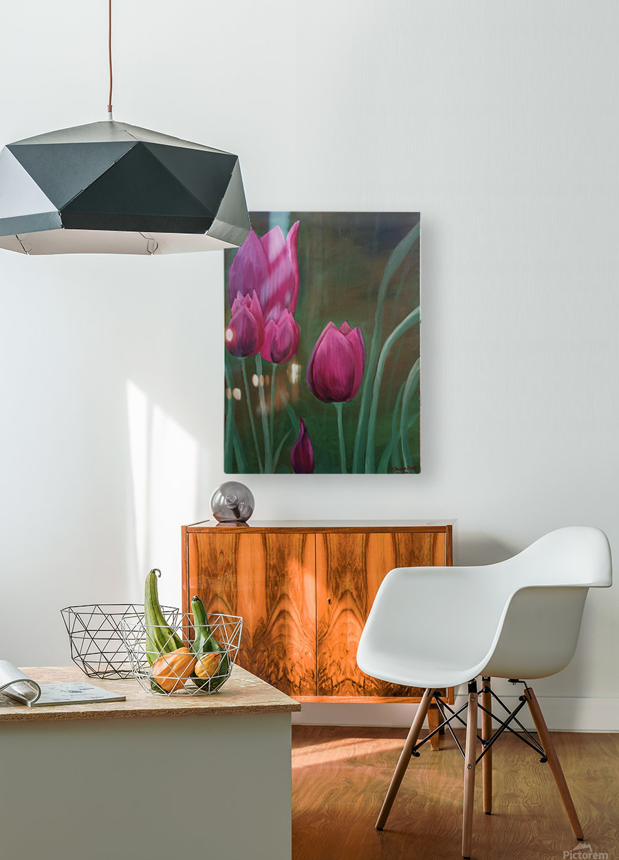 Red Tulips  HD Metal print with Floating Frame on Back