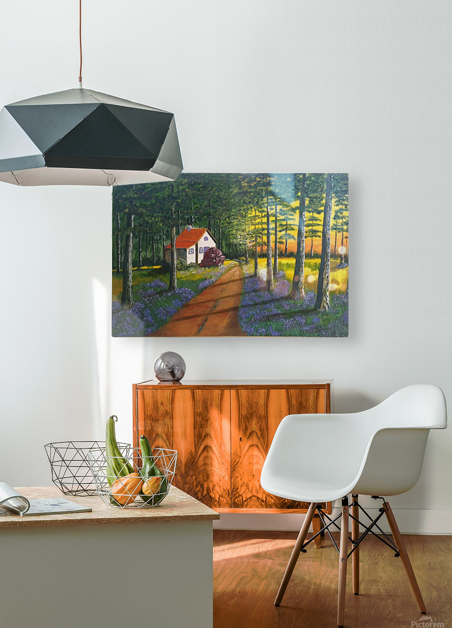 Forest retreat1  HD Metal print with Floating Frame on Back