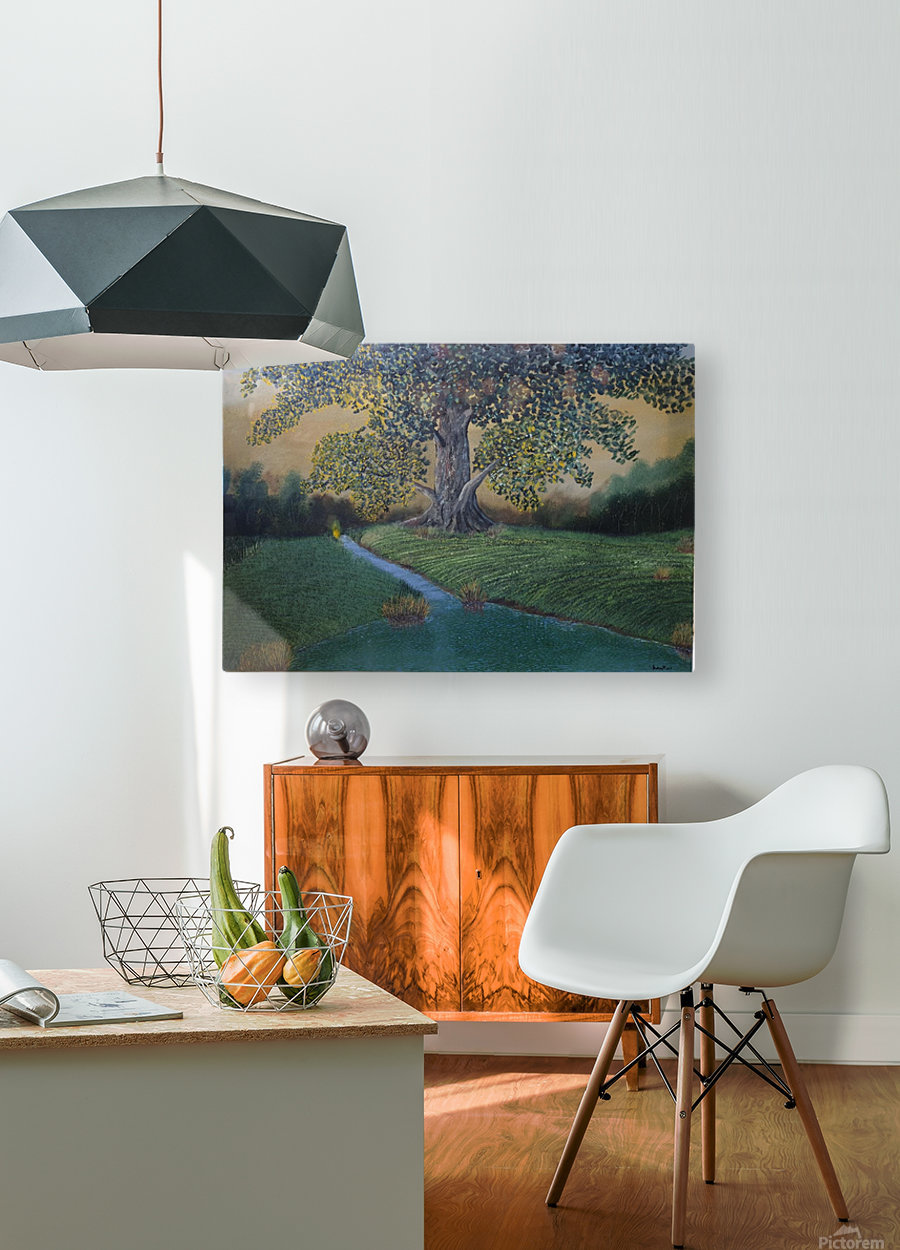 The sentinel tree  HD Metal print with Floating Frame on Back