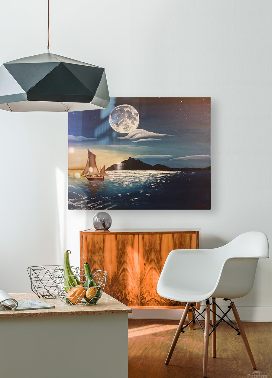 solitaire  HD Metal print with Floating Frame on Back