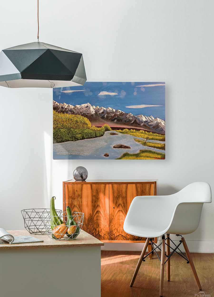 River Indus  HD Metal print with Floating Frame on Back