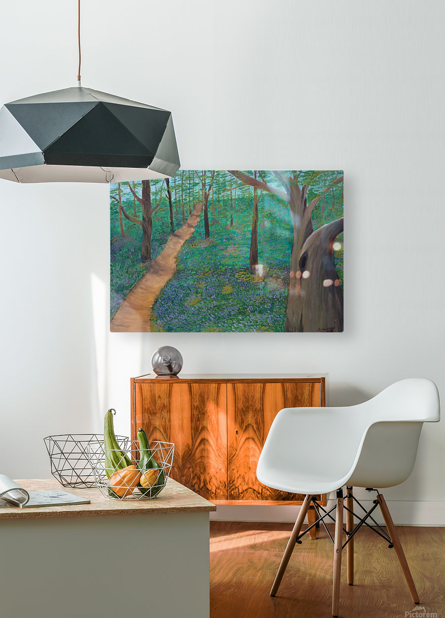 Bluebell woods oxford  HD Metal print with Floating Frame on Back