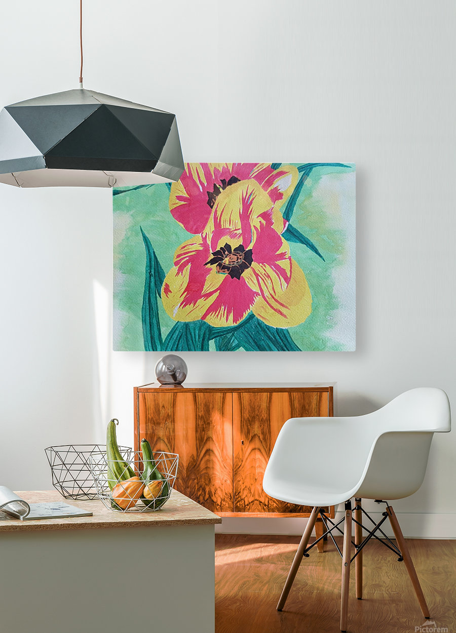Flowers1  HD Metal print with Floating Frame on Back